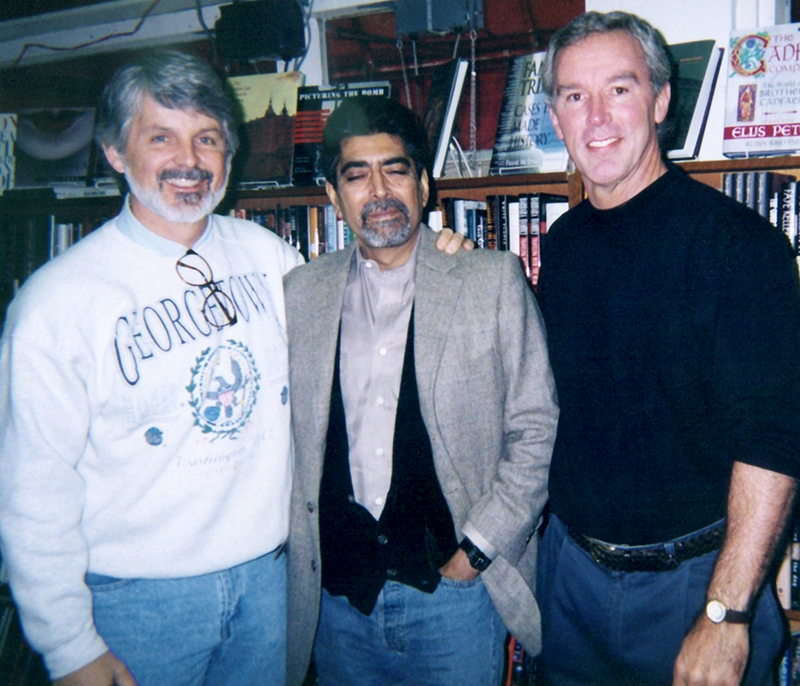 Doug Dutton (L) and I with Sleeping Sonny Mehta