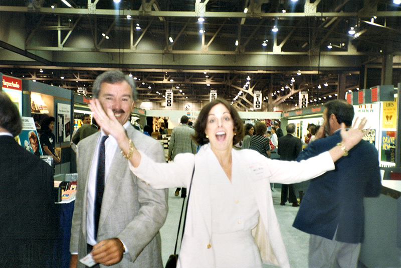 Editor Nan Talese whooping it at BEA Convention 1995